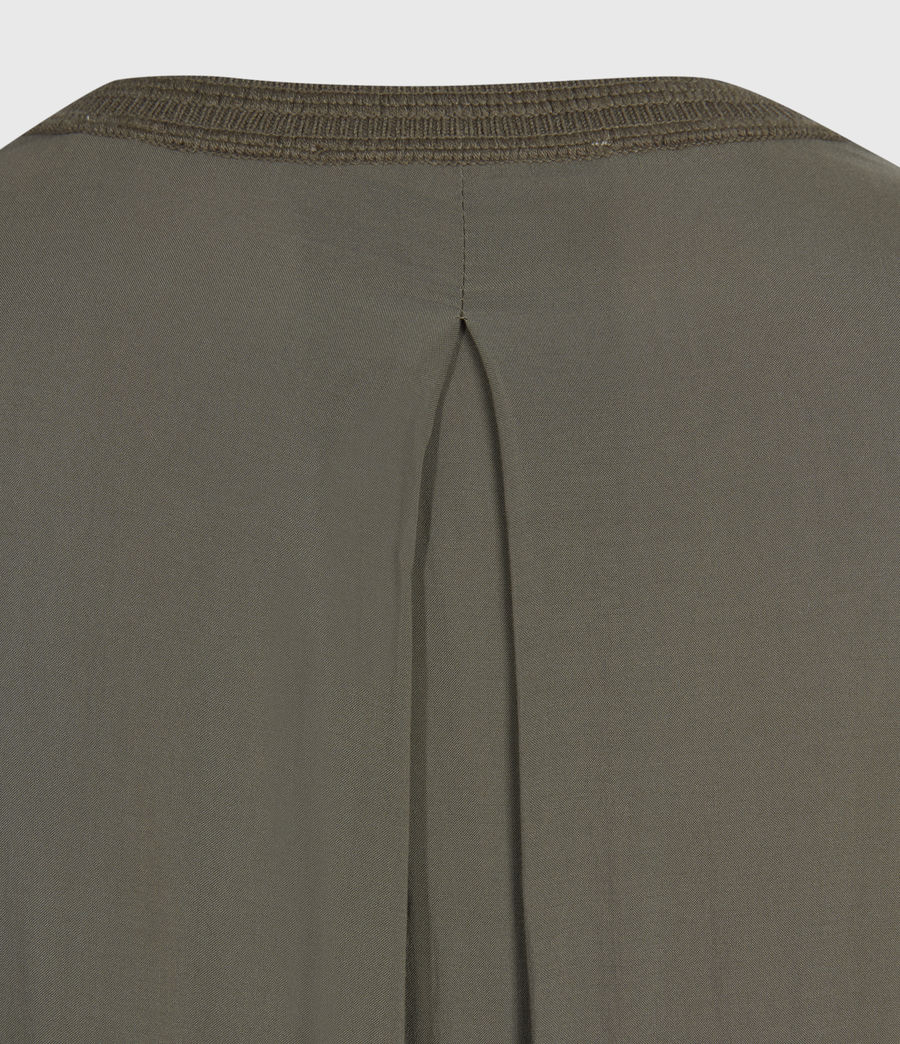 Womens Afelia Cashmere Blend Sweater (olive_green) - Image 6