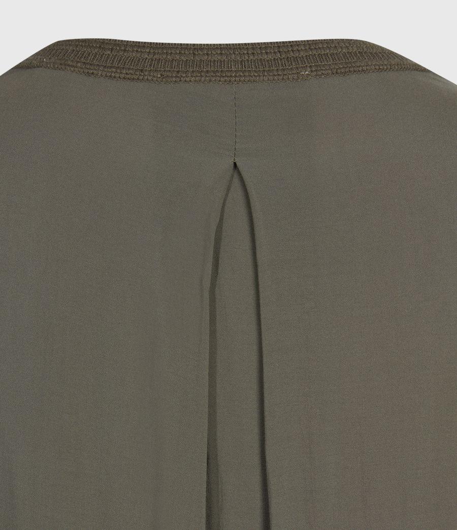 Women's Afelia Cashmere Blend Jumper (olive_green) - Image 6