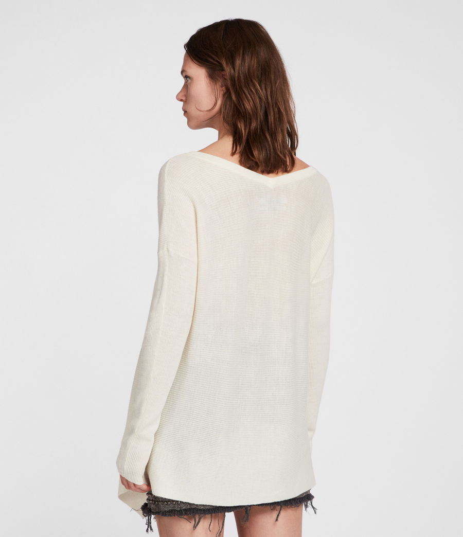 Femmes Pull Kelsey (chalk_white) - Image 4