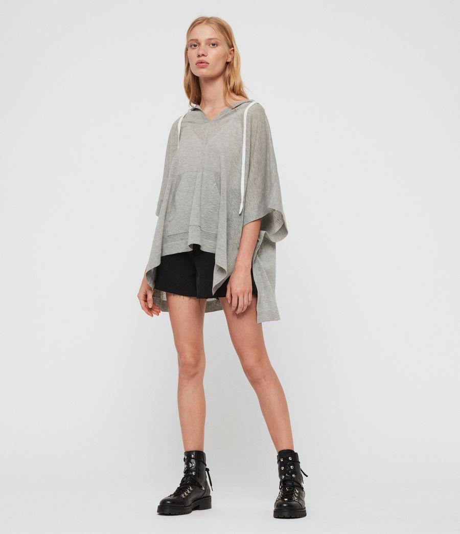 Women's Manda Knit Hoodie (pale_grey_melange) - Image 1