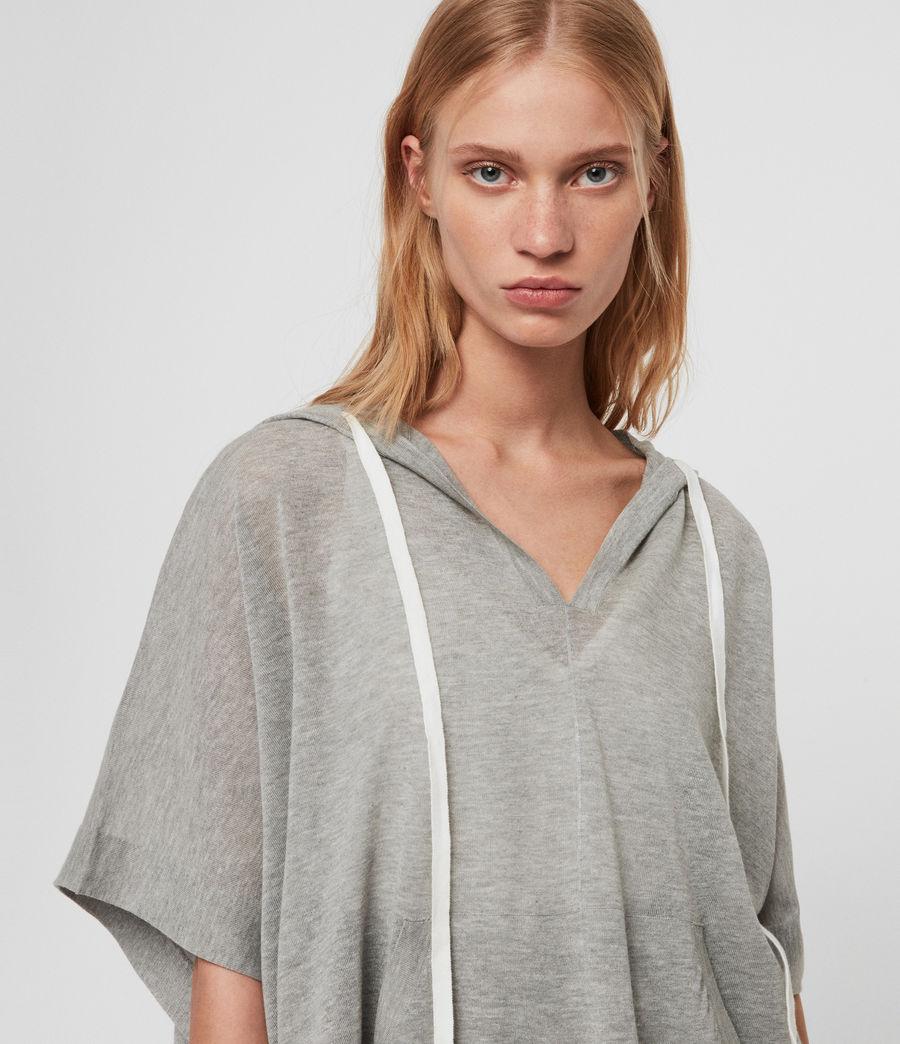 Women's Manda Knit Hoodie (pale_grey_melange) - Image 2