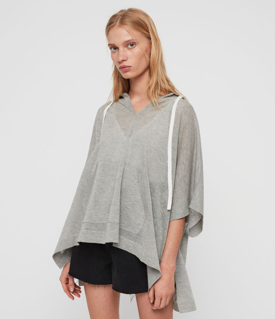 Women's Manda Knit Hoodie (pale_grey_melange) - Image 3