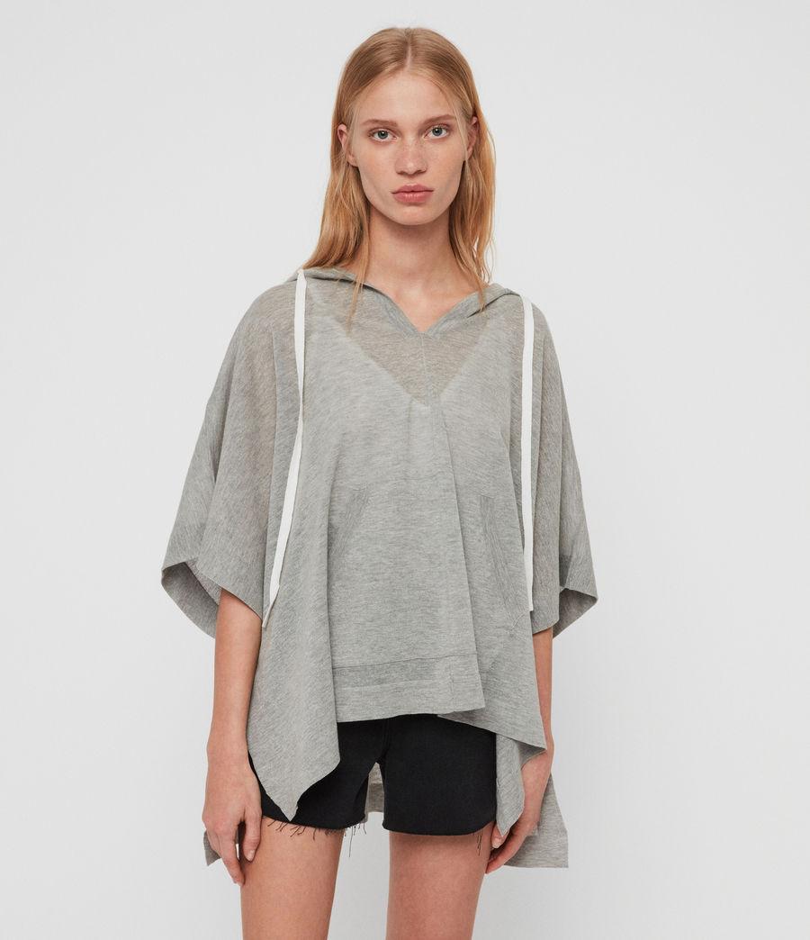 Women's Manda Knit Hoodie (pale_grey_melange) - Image 4
