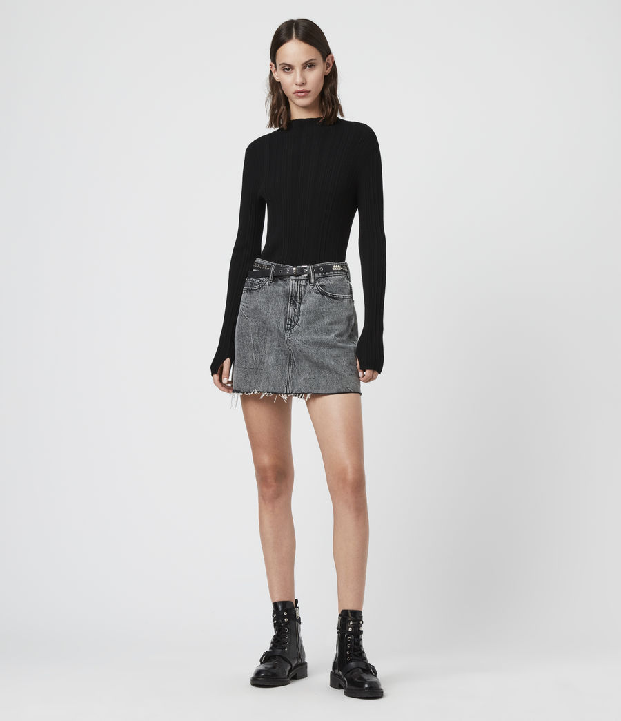 Women's Karla Knit Jumper (charcoal_grey) - Image 1