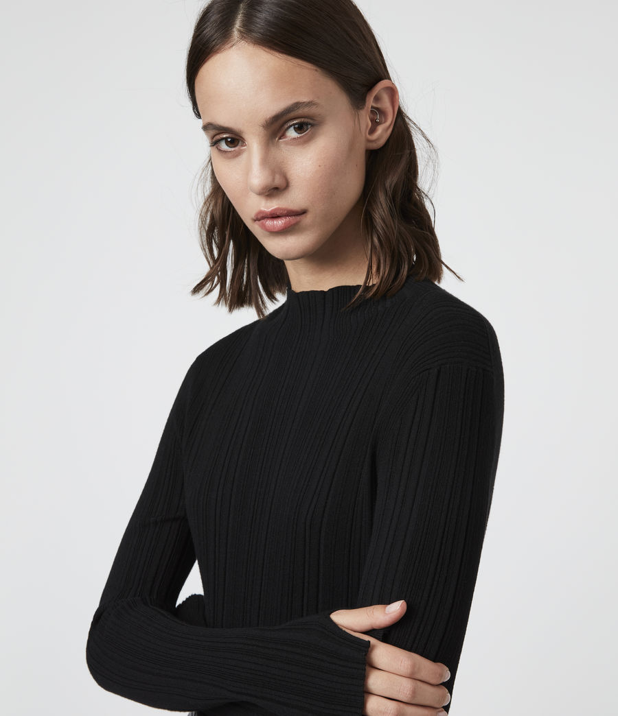 Womens Karla Knit Sweater (black) - Image 2