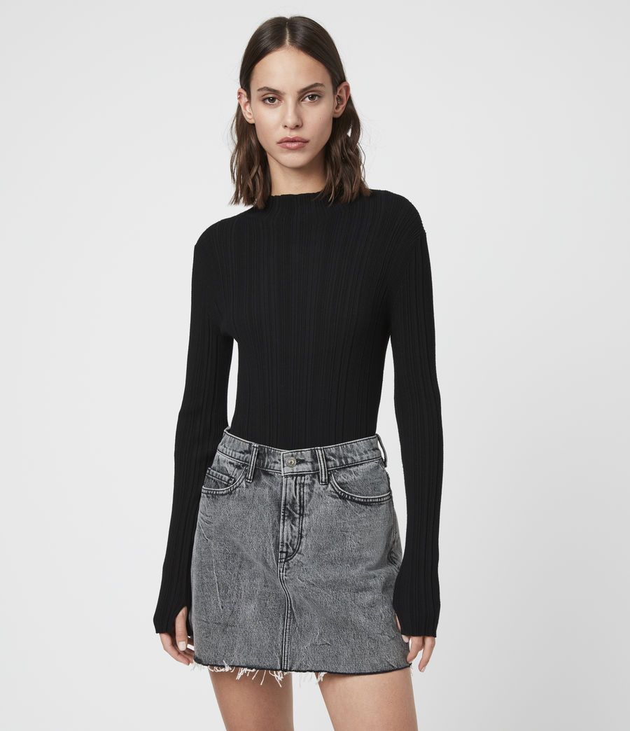 Womens Karla Knit Sweater (black) - Image 3