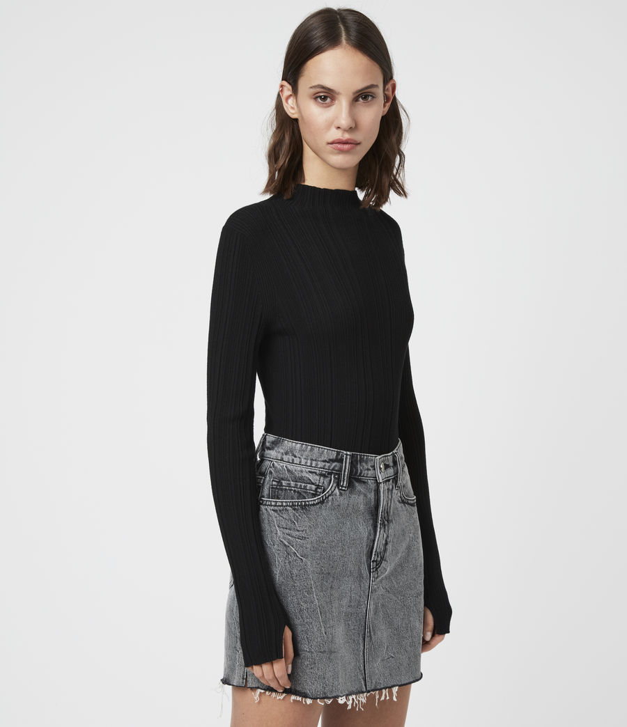 Womens Karla Knit Sweater (black) - Image 4
