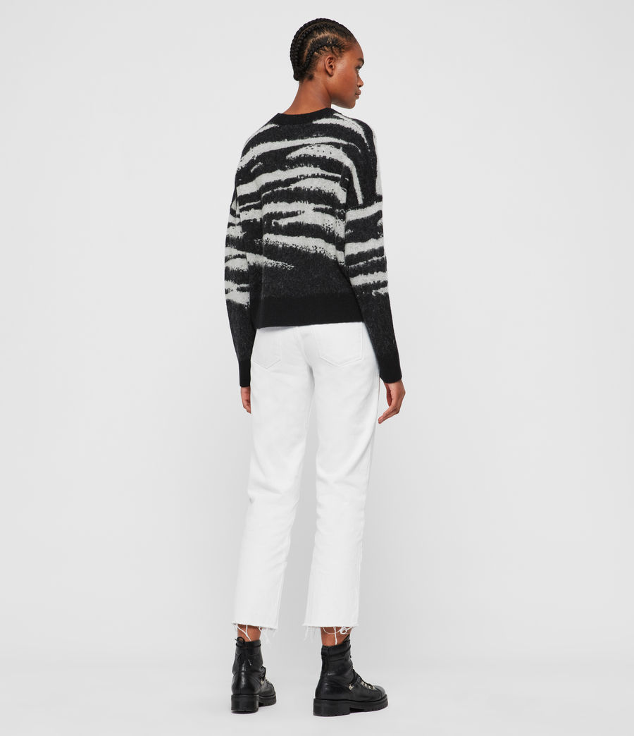 Womens Ture Crew Sweater (black_chalk_white) - Image 5