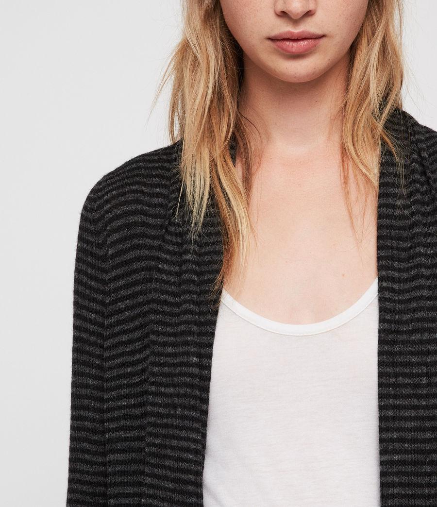 Donne Stripe Keld Cardigan (cinder_blk_stripe) - Image 3