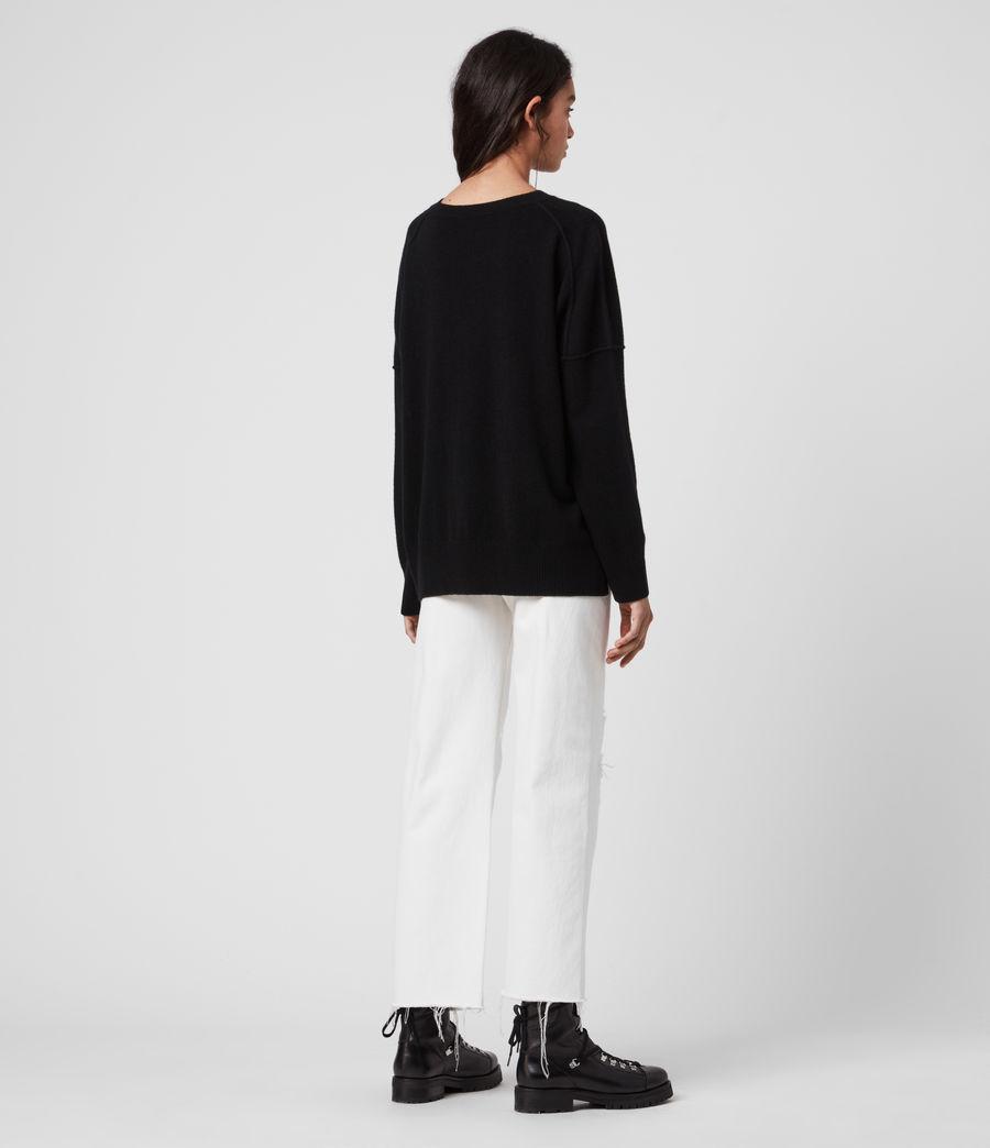 Womens AllSaints Cashmere Crew Sweater (black) - Image 6