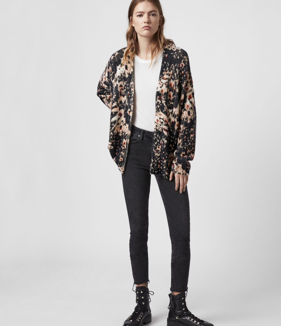 Womens Wing Cardigan (black) - Image 1