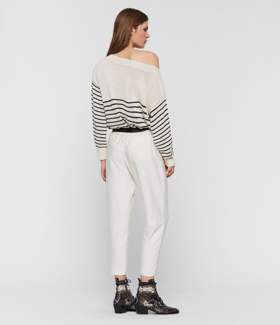 Womens Ives Breton Sweater (antiquewhite_black) - Image 5