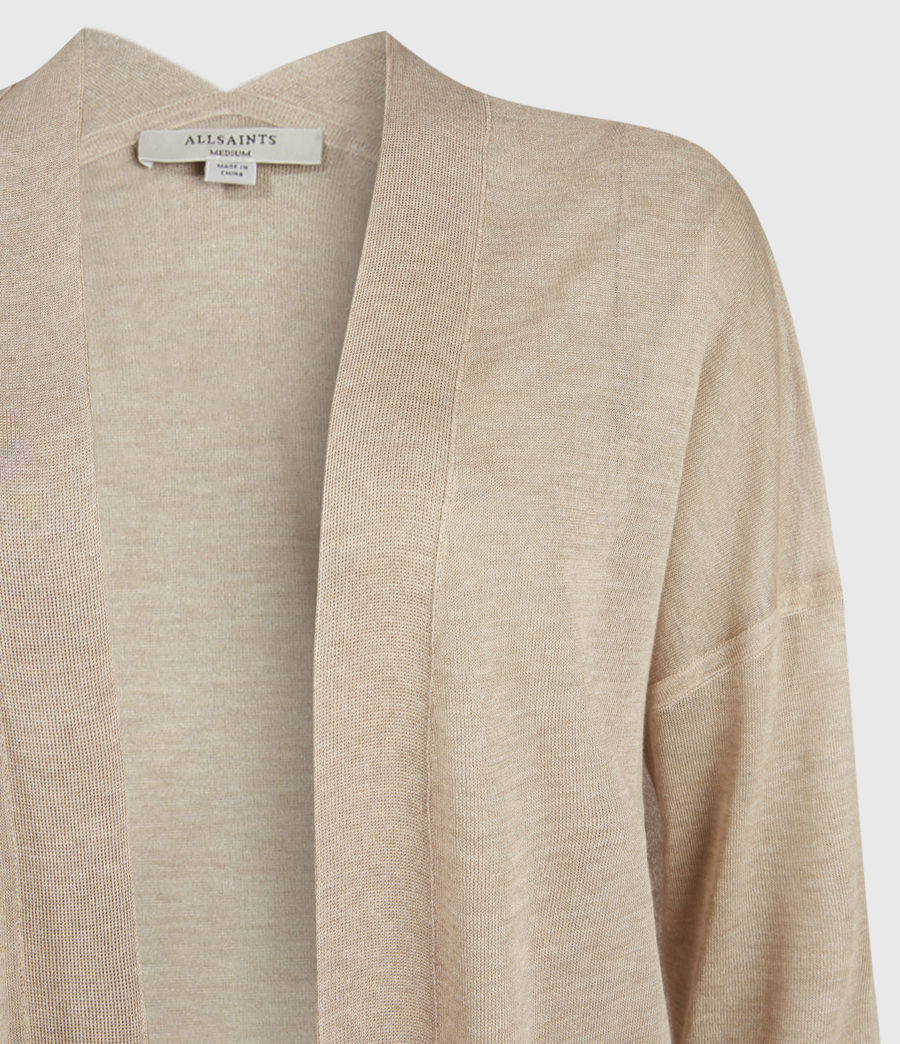 Womens Luca Cardigan (dull_gold) - Image 5