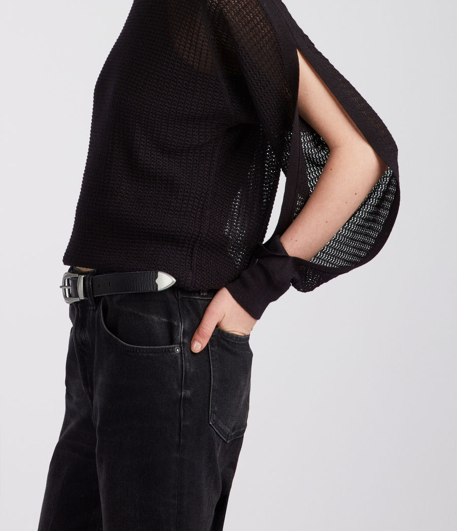 Femmes Top Elle (black) - Image 2