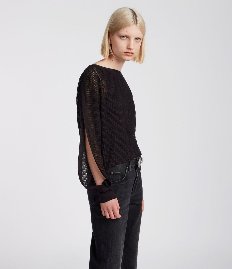 Femmes Top Elle (black) - Image 3