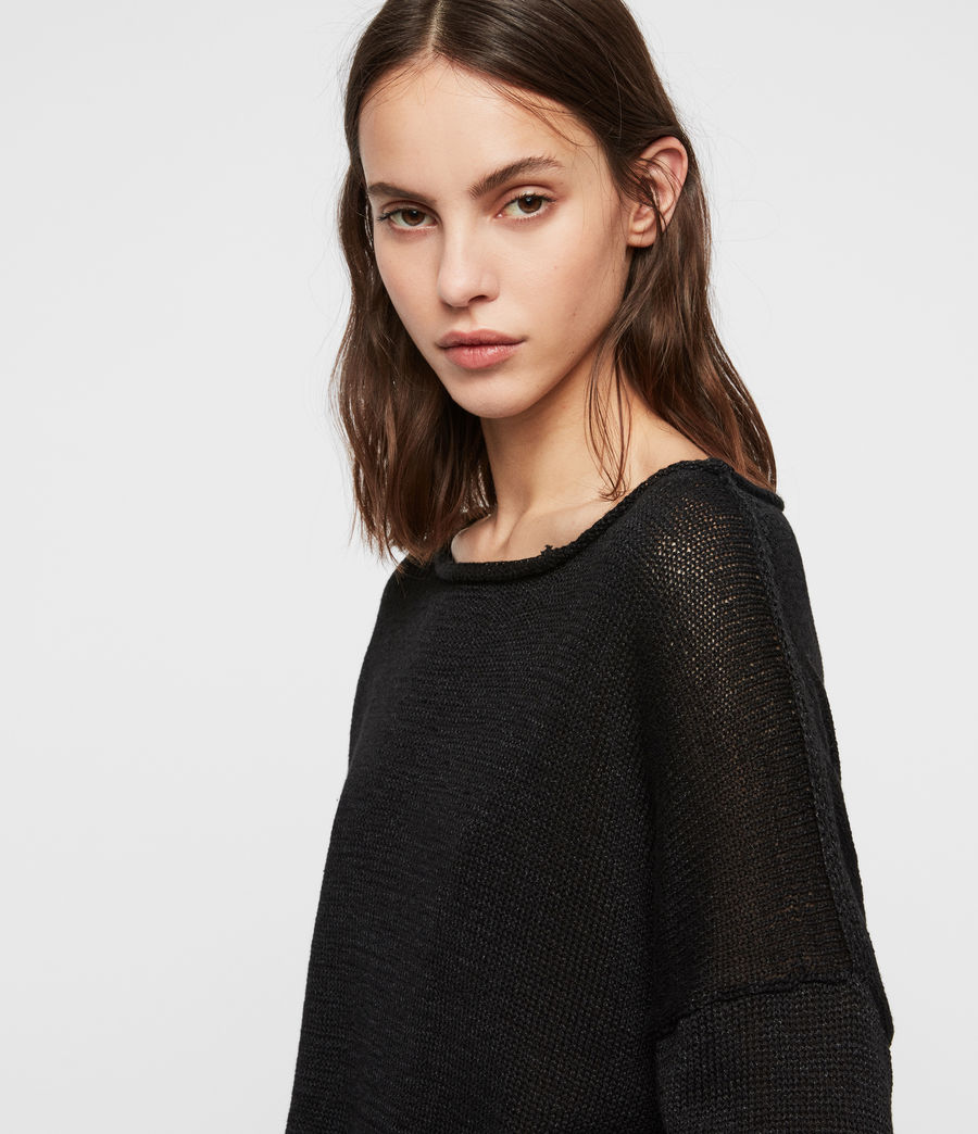 Womens Nadine Sweater (black) - Image 3