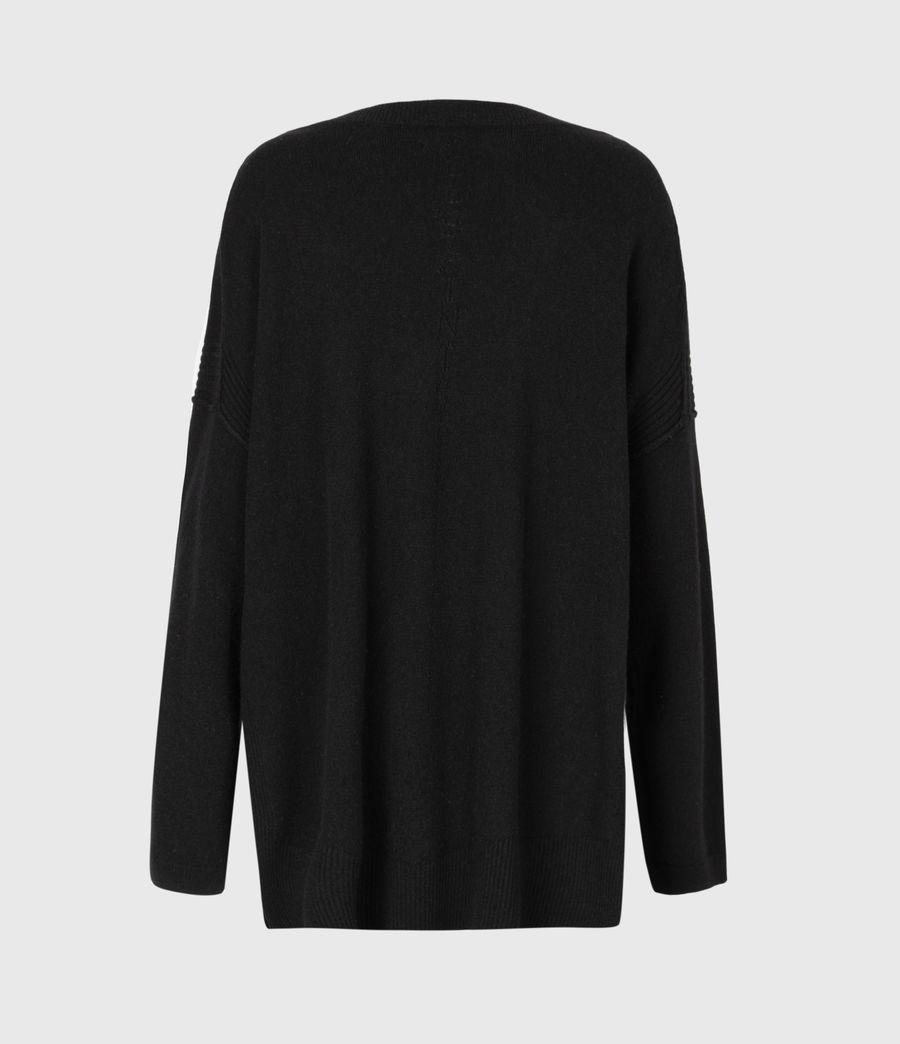 Womens Tara Pointelle Sweater (black) - Image 3