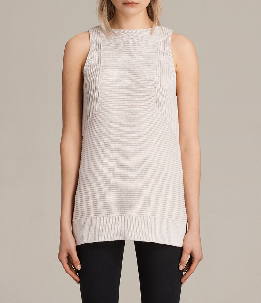 Womens Arleta Knitted Vest (petal_pink_melange) - Image 1