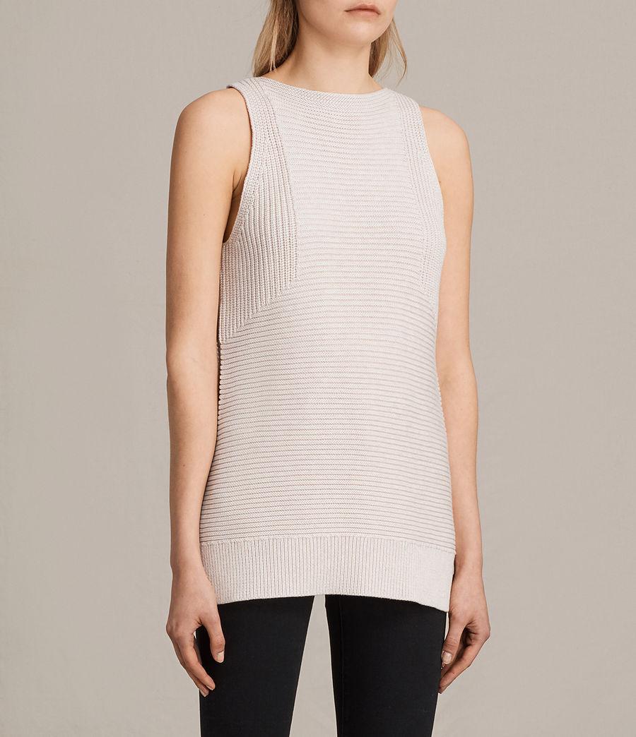 Womens Arleta Knitted Vest (petal_pink_melange) - Image 2