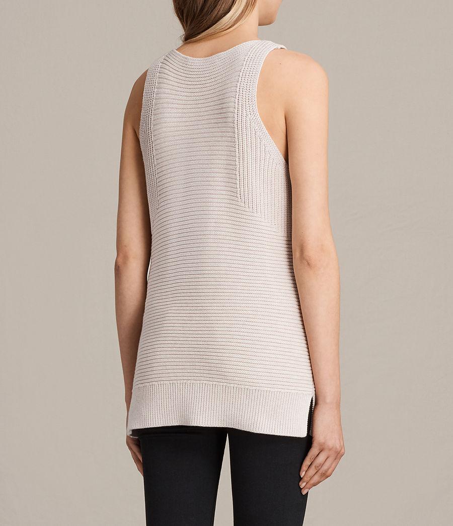 Womens Arleta Knitted Vest (petal_pink_melange) - Image 3