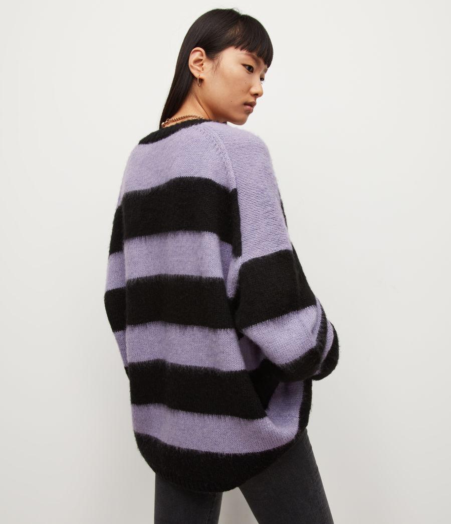 Womens Lou V-Neck Sweater (black_lilac) - Image 5