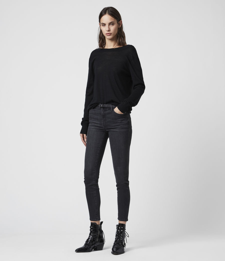 Women's Celeste Cowl Neck Jumper (black) - Image 3