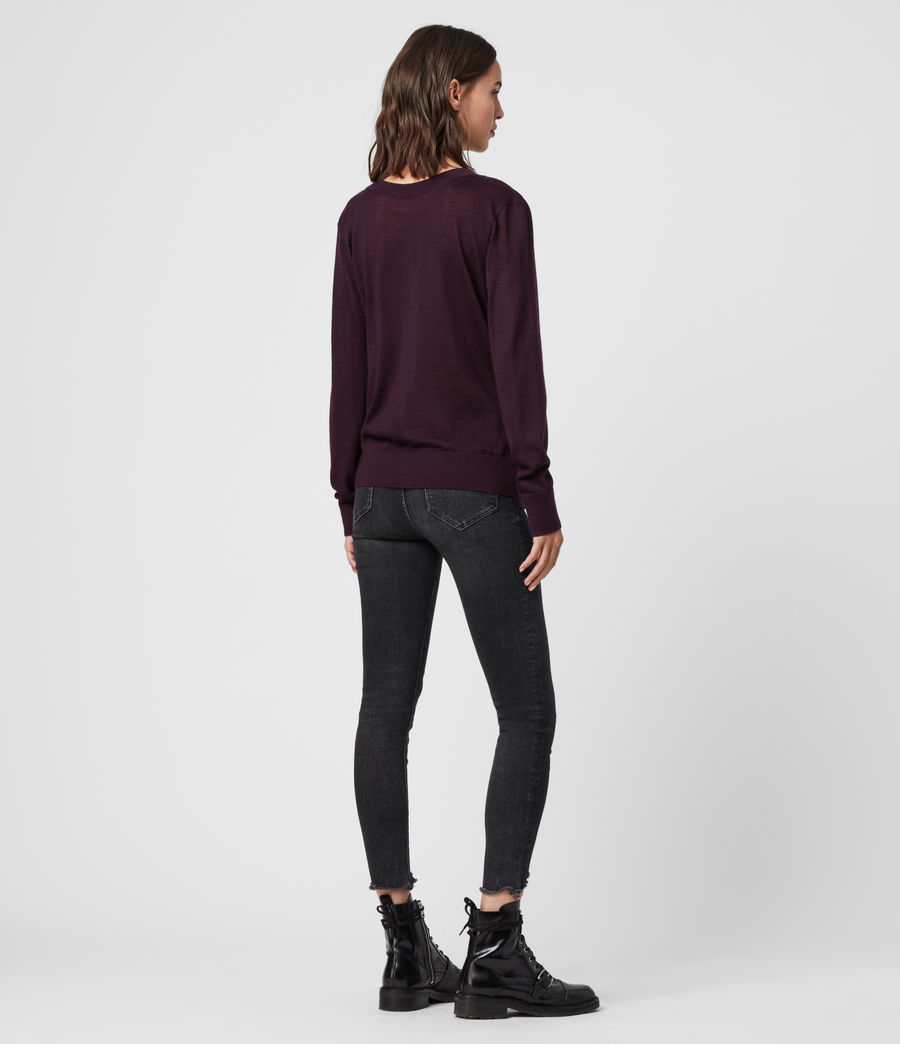Women's Celeste Cowl Neck Jumper (port_purple) - Image 3