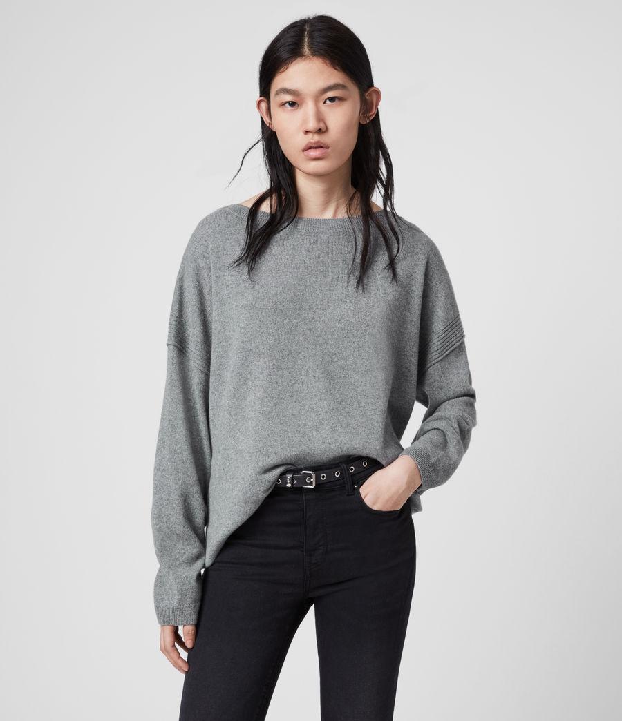 Mujer Suéter en Mezcla de Cashmere y Lana Tara (mid_grey_marl) - Image 1