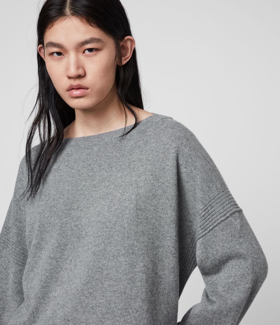 Mujer Suéter en Mezcla de Cashmere y Lana Tara (mid_grey_marl) - Image 2