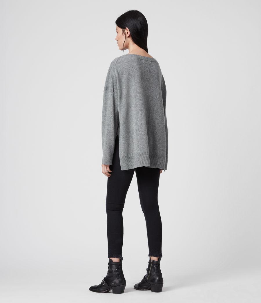 Mujer Suéter en Mezcla de Cashmere y Lana Tara (mid_grey_marl) - Image 4