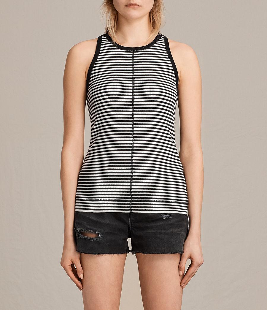Damen Joni Stripe Top (ink_ivory) - Image 1