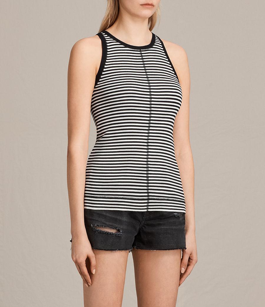 Damen Joni Stripe Top (ink_ivory) - Image 2