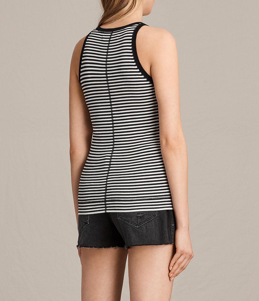 Damen Joni Stripe Top (ink_ivory) - Image 3