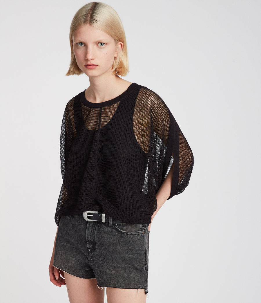 Damen Levita T-Shirt (black) - Image 3