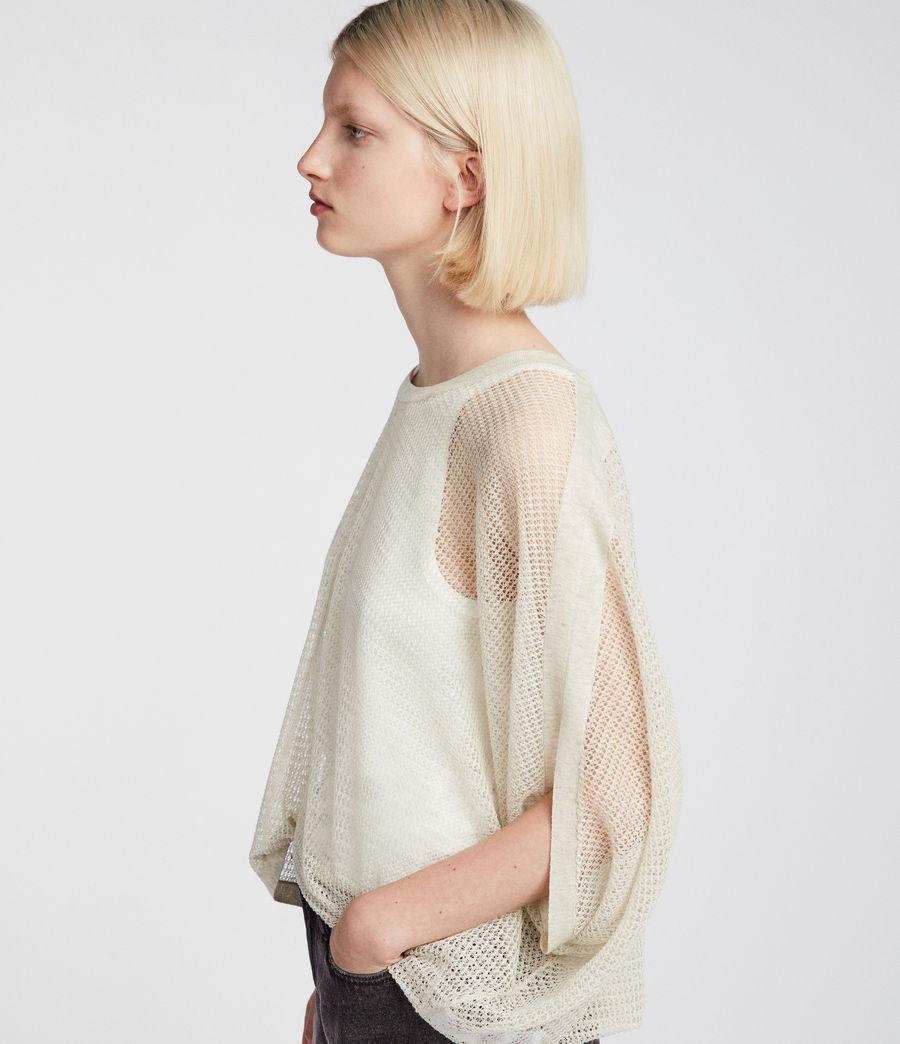 Womens Levita Knit Top (linen_white) - Image 2