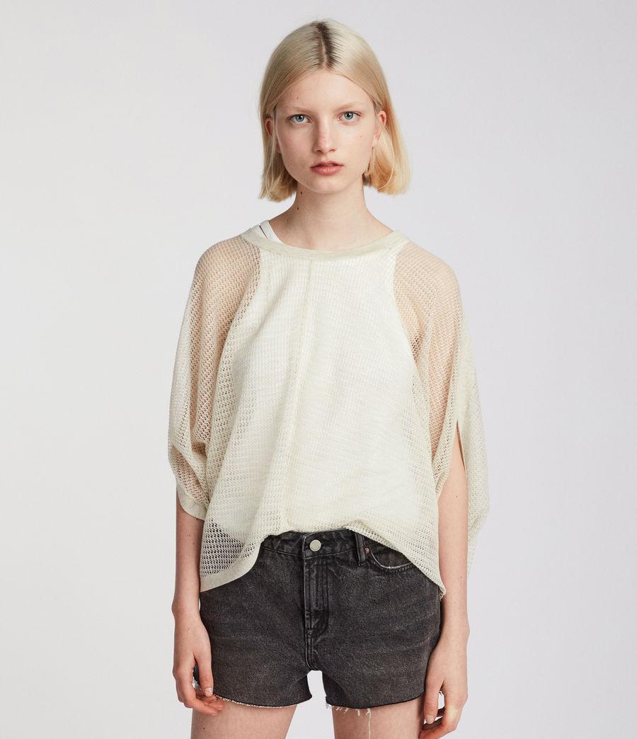 Womens Levita Knit Top (linen_white) - Image 3