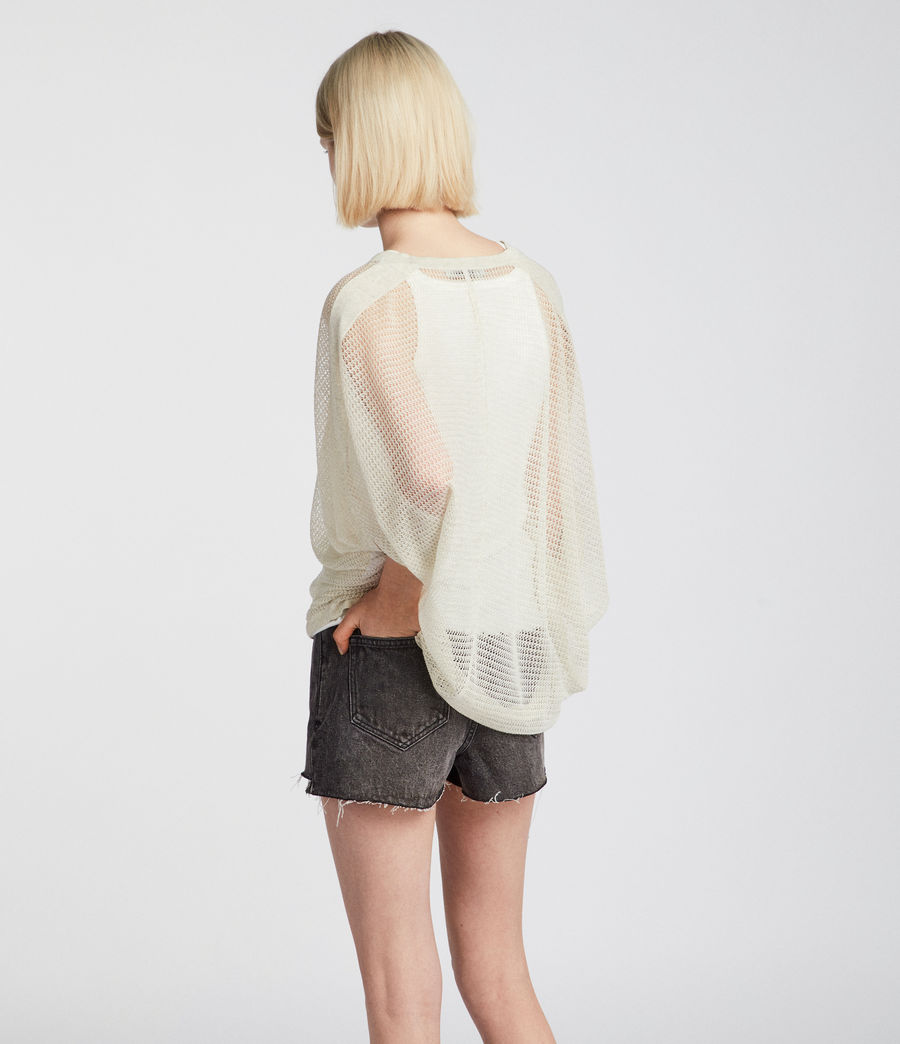 Womens Levita Knit Top (linen_white) - Image 4