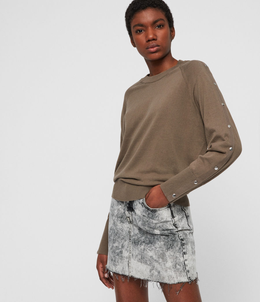 Womens Suri Sweater (khaki) - Image 1