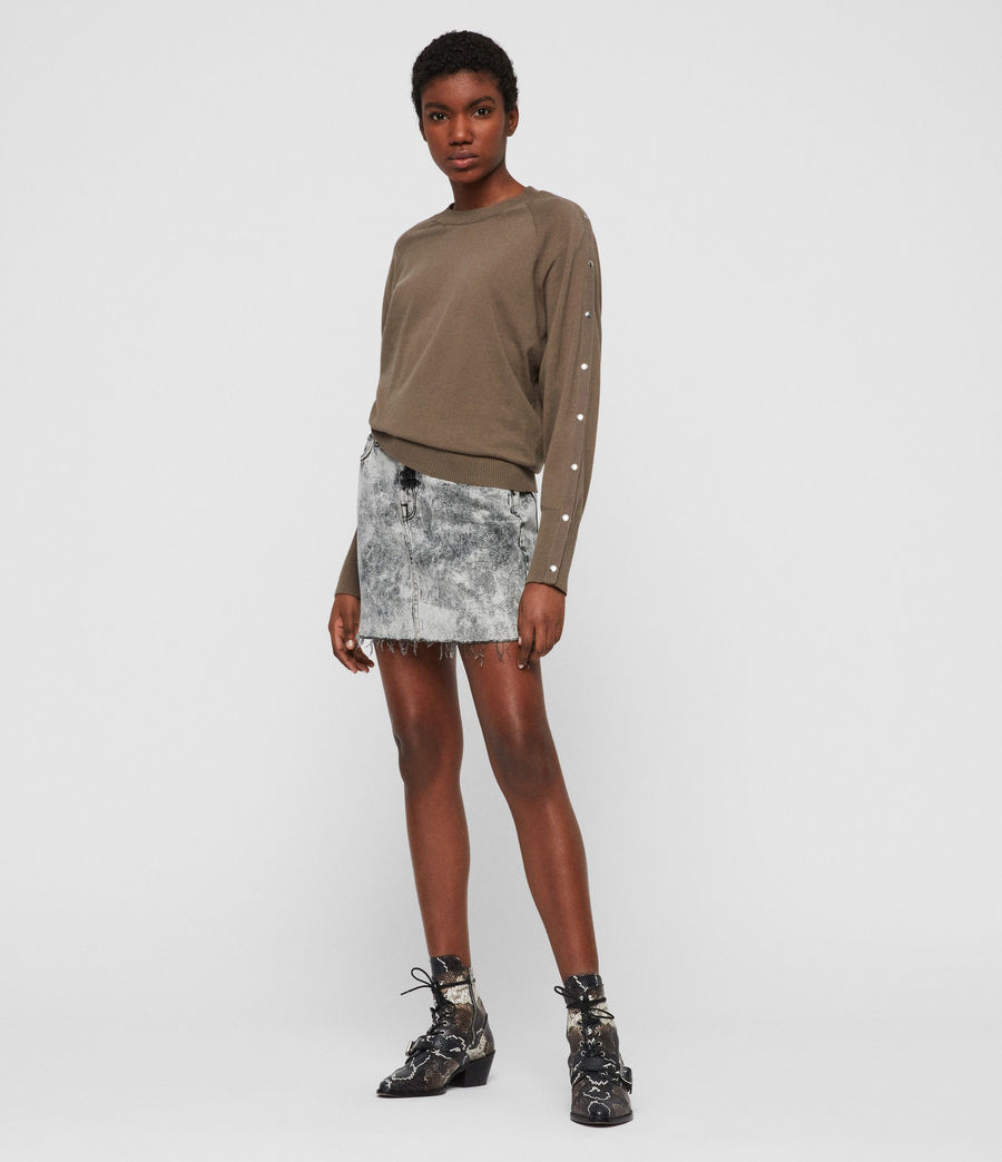 Womens Suri Sweater (khaki) - Image 2