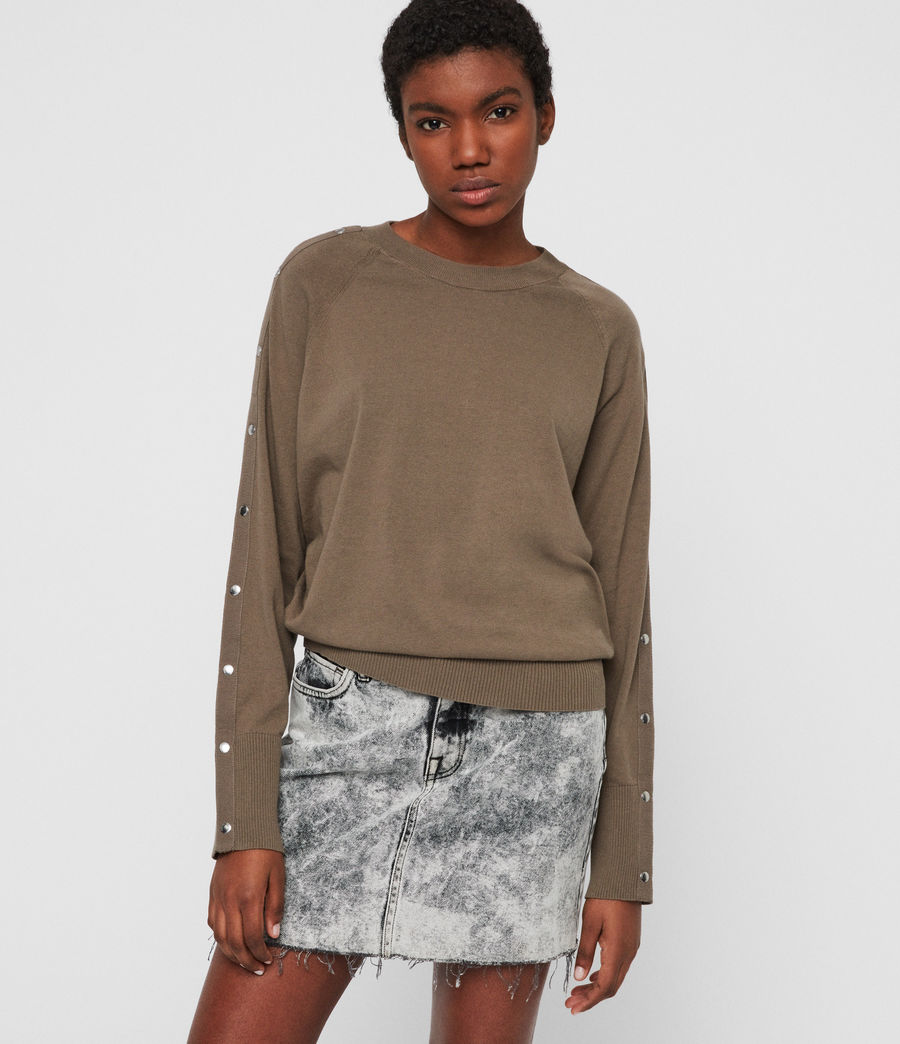 Womens Suri Sweater (khaki) - Image 3