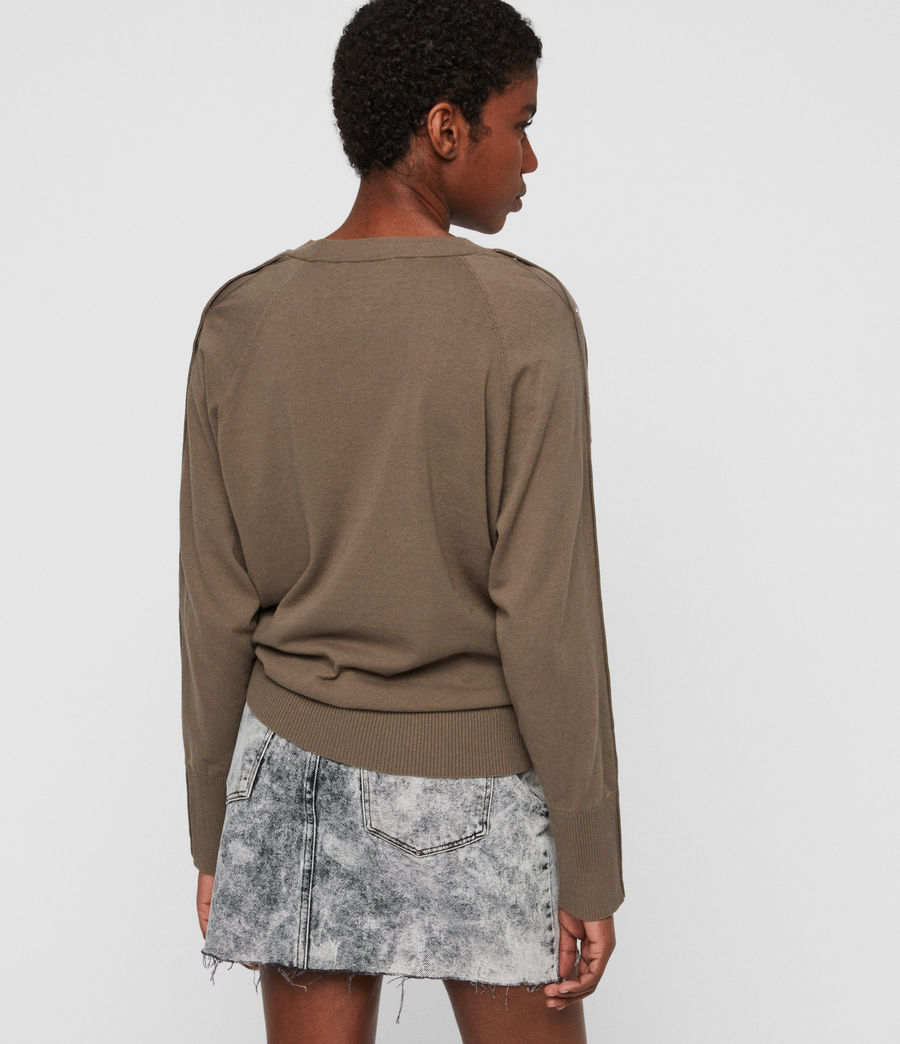 Womens Suri Sweater (khaki) - Image 5
