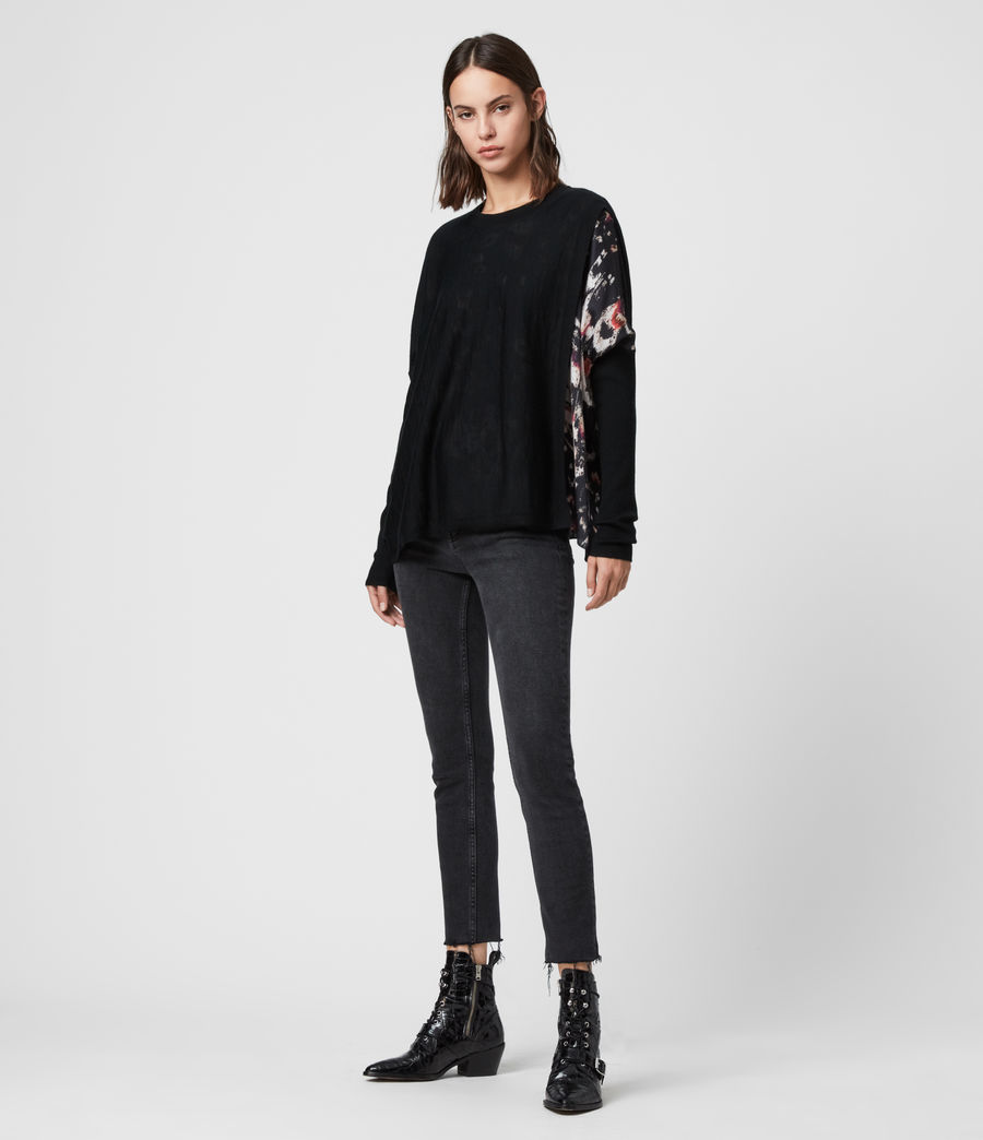 Womens Koko Wing Wrap Sweater (black) - Image 3