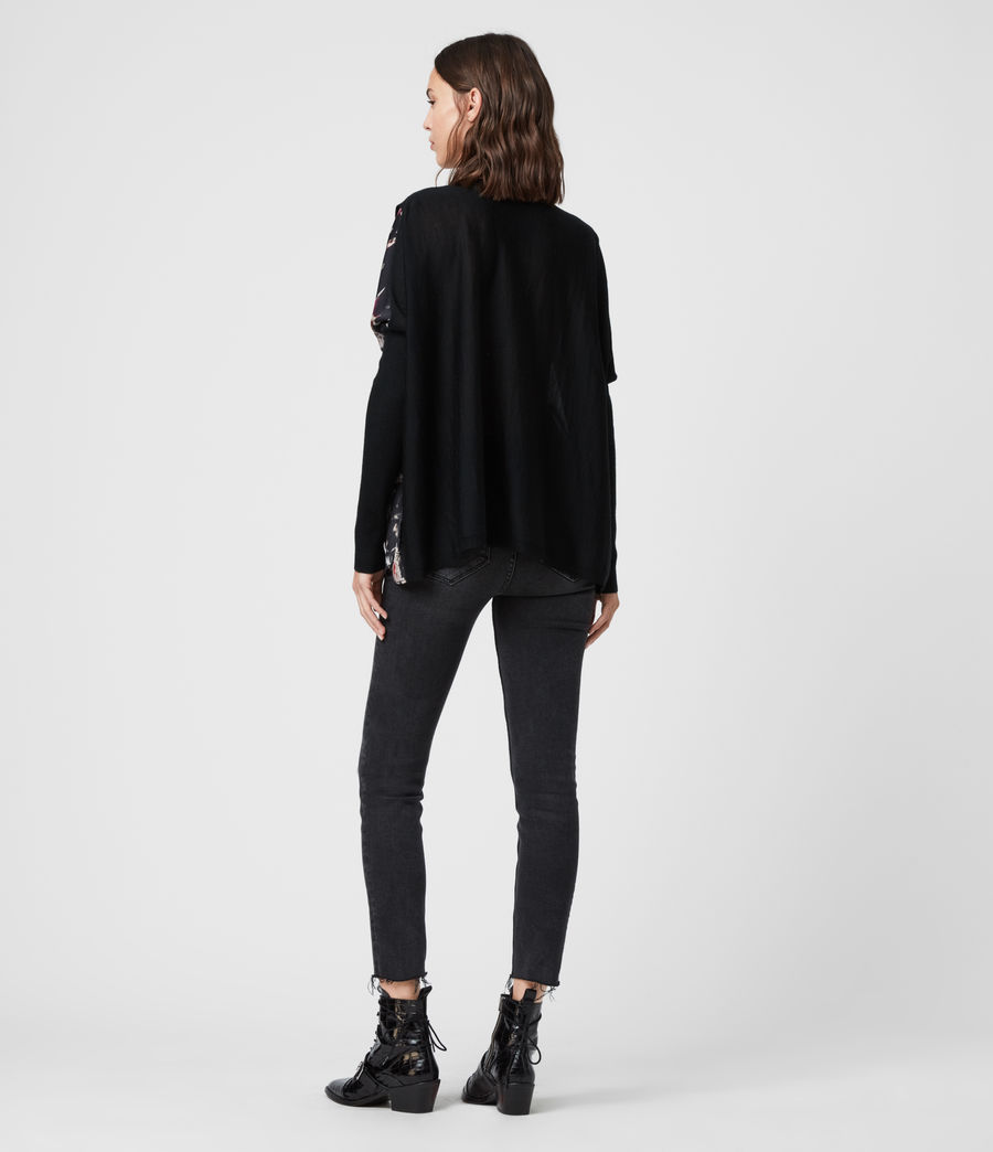 Womens Koko Wing Wrap Sweater (black) - Image 6