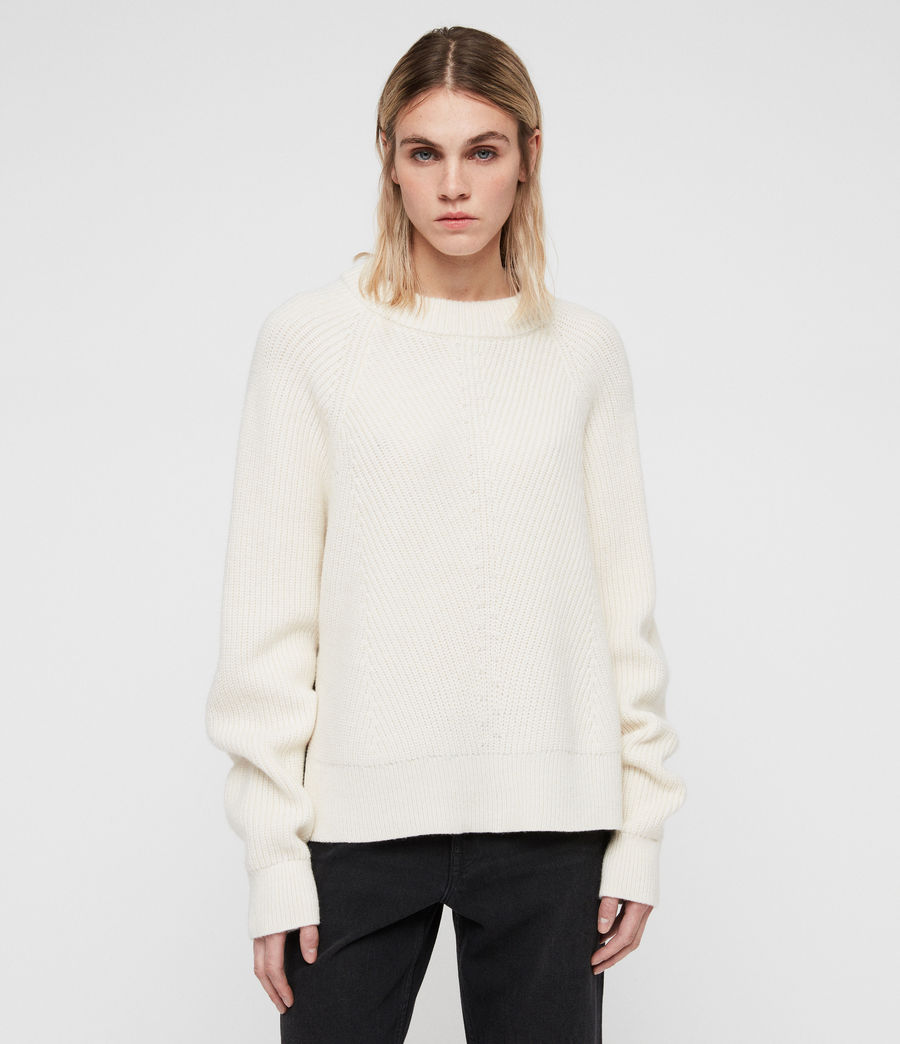 Womens Sylvie Sweater (chalk_white) - Image 1