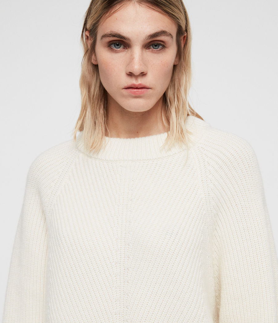 Womens Sylvie Sweater (chalk_white) - Image 2
