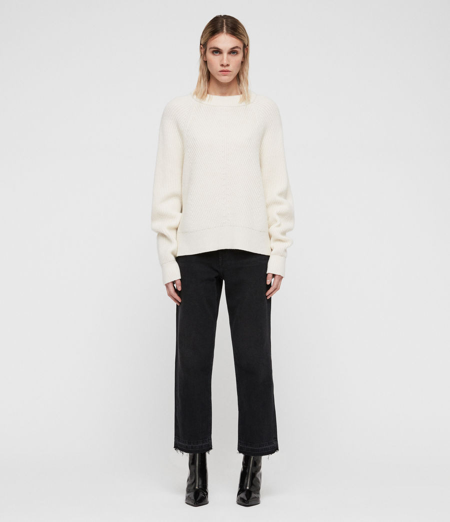 Womens Sylvie Sweater (chalk_white) - Image 3