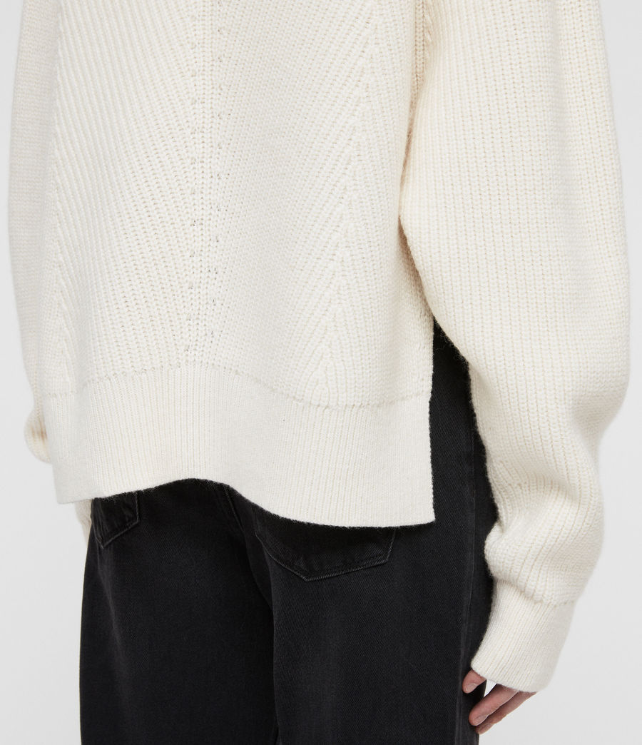 Womens Sylvie Sweater (chalk_white) - Image 4