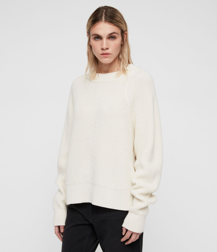 Womens Sylvie Sweater (chalk_white) - Image 5
