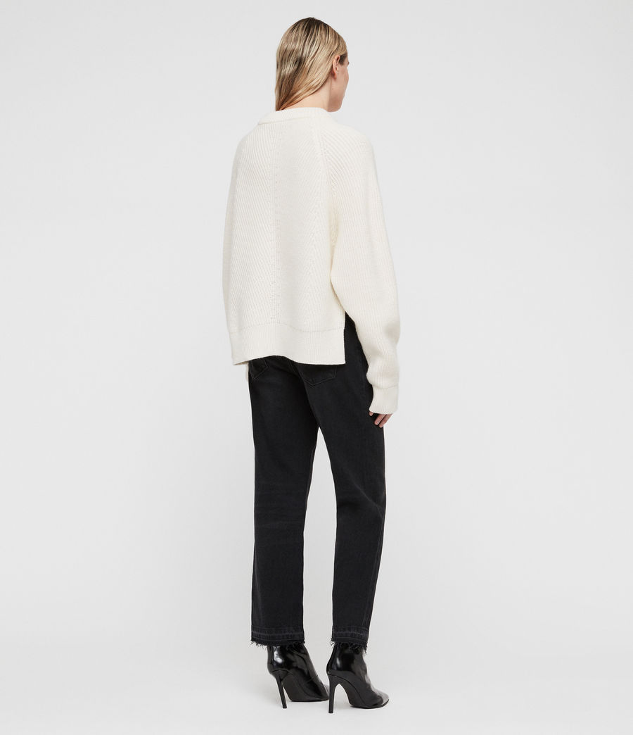 Womens Sylvie Sweater (chalk_white) - Image 6