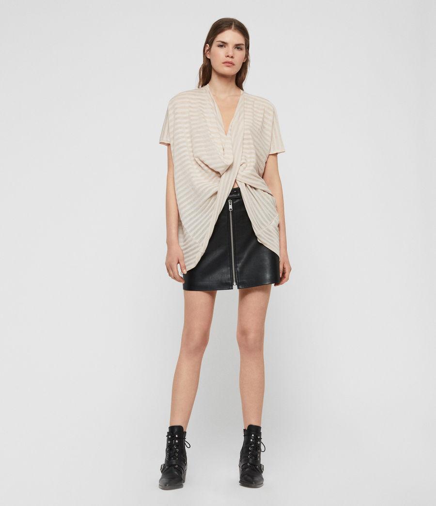 Damen Stripe Itat T-Shirt (parchment_pink) - Image 4